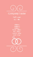 Pink Wedding Jewelry Business Card Template